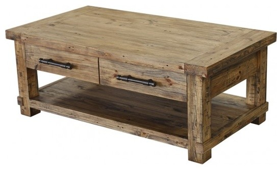 Couchtisch Twist Country Coffee Table - Rustic - Coffee Tables - Other