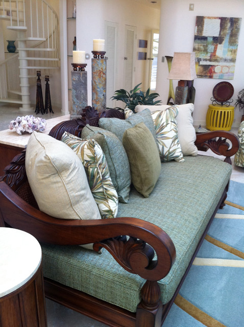 Florida Keys Home - complete Interior Design and Furnishings by - tropical living room furniture
