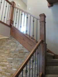 New Construction - Oak Craftsman Stair & Railing Project