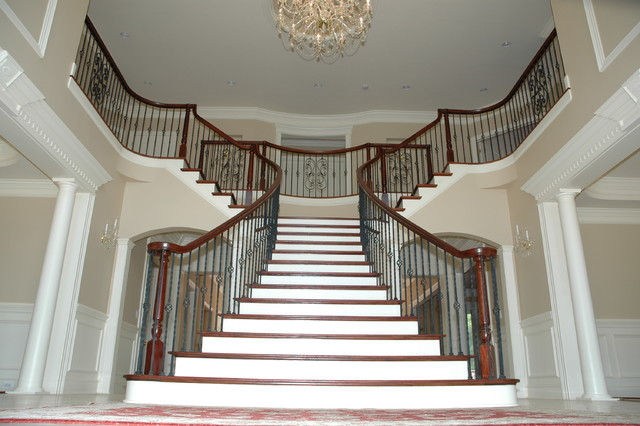 Double Radius Flare Traditional Staircase Dc Metro