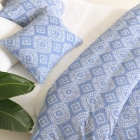 Pine Cone Hill Ramala French Blue Duvet Cover - Modern ...