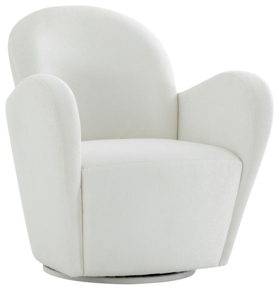 Pasargad Home Elena Collection Modern Swivel Chair Ivory Contemporary Armchairs And Accent Chairs By Pasargad Home Houzz