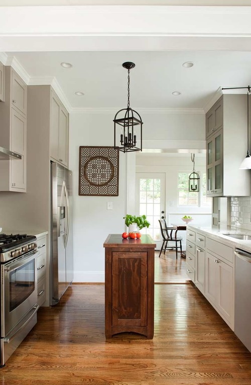 How To Make An Island Work In A Small Kitchen - small kitchen ideas with island