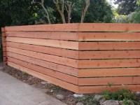 Horizontal Redwood Fence 1 - Modern - Exterior - Los ...
