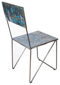 Metal Recycled Oil Drum Dining Chair - Dining Chairs - by ...