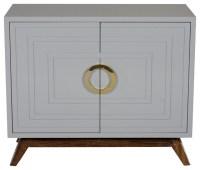 Worlds Away - Bernard 2 Door Cabinet - Bernard, Grey ...
