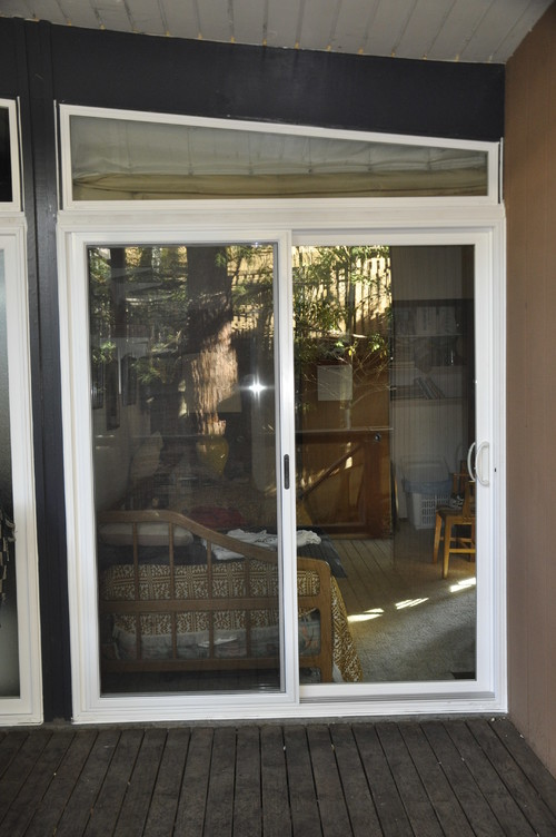 Houzz Dining Room Lighting Before & After: Simonton Sliding Patio Door Replacement