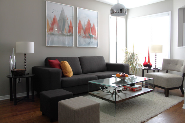 Personal Home Tour - Contemporary - Living Room - Ottawa - by - gray living room walls