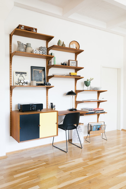 Home Office Berlin Houzzbesuch Doreen Schumacher - Midcentury - Home Office