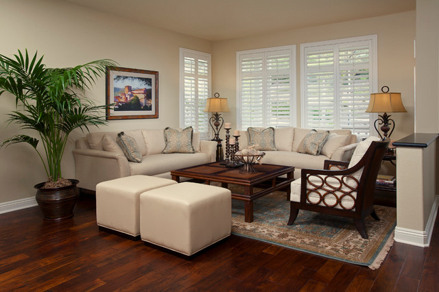 San Clemente Tommy Bahama - Tropical - Living Room - Orange County - tropical living room furniture