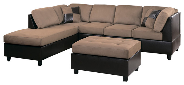 9909BR-Homelegance Comfort Living 2-Piece Two-Tone Living Room Set - two piece living room set