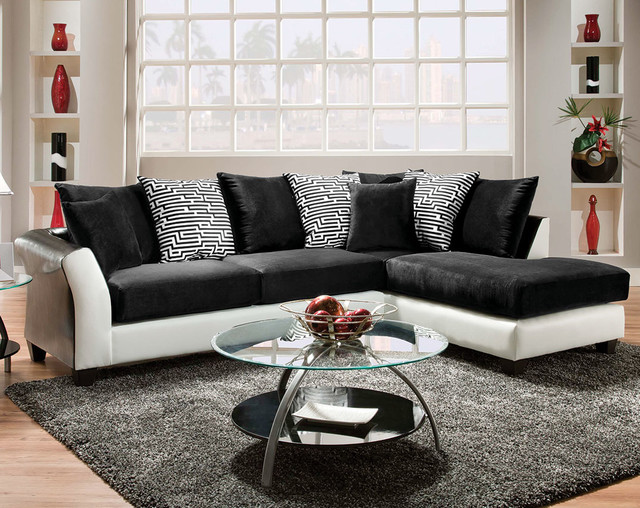 ZigZag Two Piece Sectional Sofa - Modern - Living Room - Columbus - american freight living room sets
