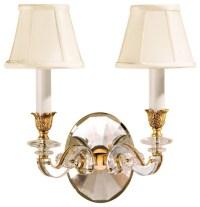 Decorative Crafts Decorative Crafts Brass Crystal Sconce ...