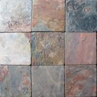 Sample of 4x4 Tumbled Multi Classic Slate Tile ...