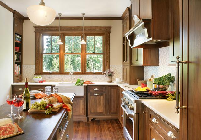 Style craftsman kitchen huntington by mountaineer woodcraft