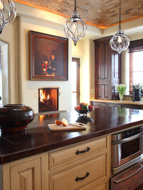 mediterranean kitchen design photos dark wood cabinets design ideas design style dining room fireplace furniture garden