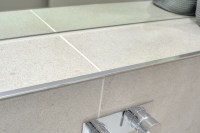 Bathroom - Escape Grey & Tile Edge Trim - Contemporary ...