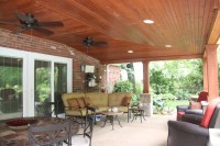 Covered Patio With Vaulted Ceiling Ideas - Rustic - Patio ...