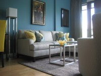 Grey Yellow Teal Living Room