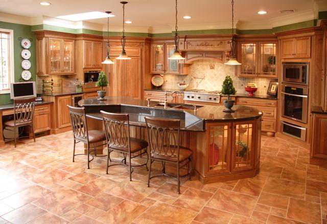 Tuscan Cherry - Mediterranean - Kitchen - Philadelphia - by - kitchen design center