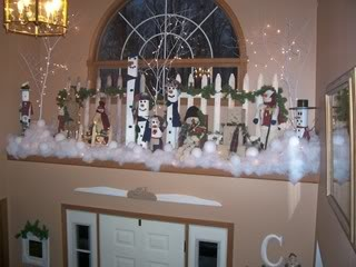 My Plant Ledge Decorated For Christmas