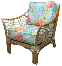 Bali Arm Chair in Natural, Beach-Umbrella Fabric ...