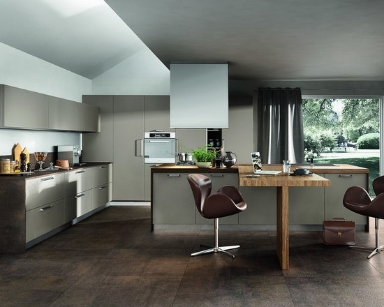 small contemporary shaped kitchen design photos island small contemporary shaped eat kitchen idea moscow flat