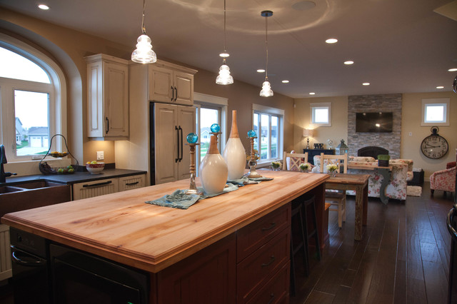 Open Concept Kitchen\/Dining\/Living Room - Traditional - Living - open concept living room