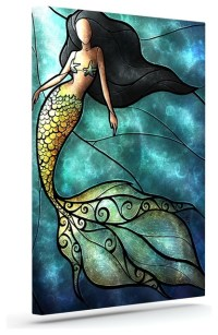 "Mandie Manzano ""Mermaid"" Wrapped Art Canvas - Contemporary ..."