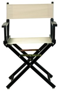 """18"""" Director's Chair With Black Frame, Navy Blue Canvas ..."""