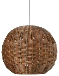 KOUBOO - Wicker Ball Pendant Light, Rustic Brown & Reviews ...