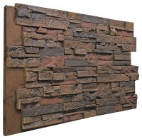 Stacked Stone Wall Panel, Almond - Rustic - Mosaic Tile ...