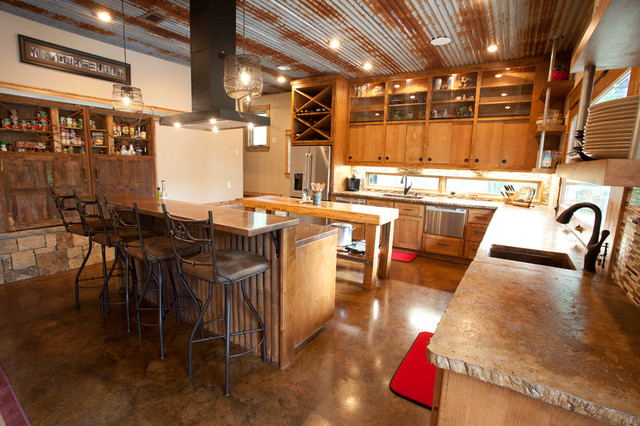 Rustic Modern Kitchen - Rustic - Kitchen - Dallas - by Wright-Built - rustic modern kitchen