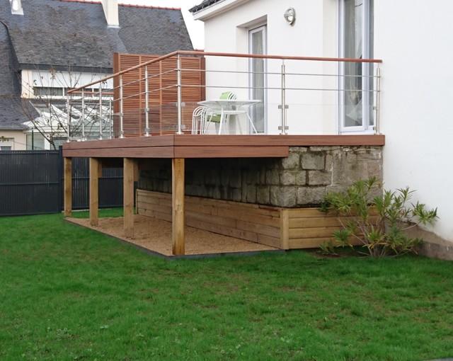 prix dune terrasse sur pilotis prix terrasse bois pilotis vente - Terrasse En Bois Suspendue Prix
