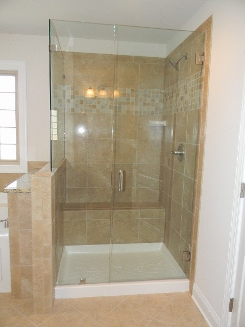 Ceramic Tile Shower Designs Traditional Bathroom Charlotte By Essex Homes Southeast Inc