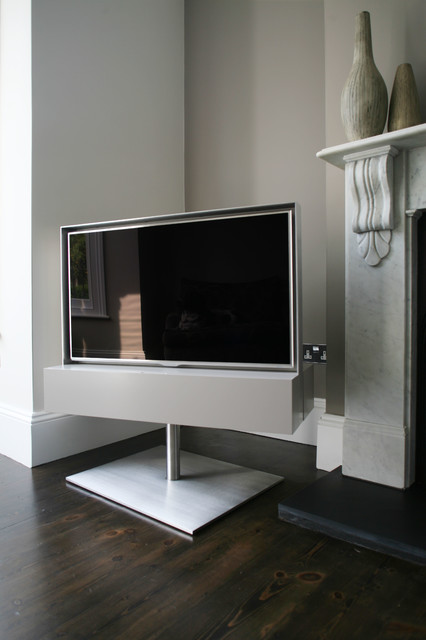 Houzz Lighting Rotating Tv Cabinet - Contemporary - Living Room - London
