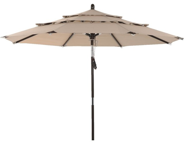 Hipp Hardware Plus Three Tier Umbrella Brown Tjwu 007 270