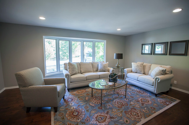 Sherwin Williams Mindful Gray Paint, Antique Brown wood floors - mindful gray living room