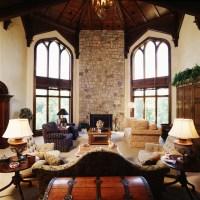 A Modern Castle - Mediterranean - Living Room - Cedar ...