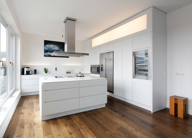 Houzz Kücheninsel Plan W Küche Lineare / Plan W Kitchen Lineare - Modern