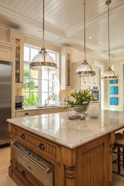 Perla Venata Quartzite Kitchen Traditional With For Countertop Old Naples, Private Residence