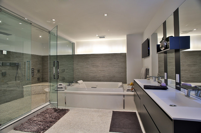 Appartement Toit Terrasse Marseille 13008 Nfl Players Residence - Contemporary - Bathroom - Miami