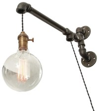 Industrial Pipe, Suspended Wall Light - Industrial - Swing ...