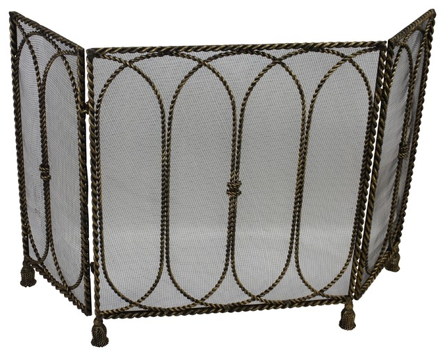 Three Panel Fire Screen - Victorian - Fireplace Screens - by Dr