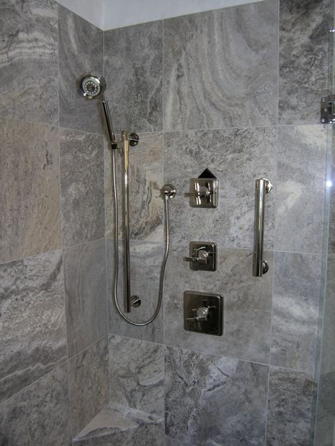 Silver Travertine Tiles Modern Bathroom Tampa By Travertine Warehouse