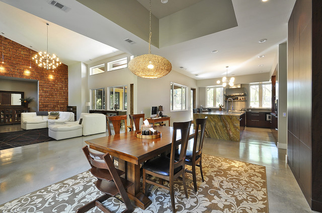 Dining/Kitchen/Great Room Relationship. - Contemporary - Dining
