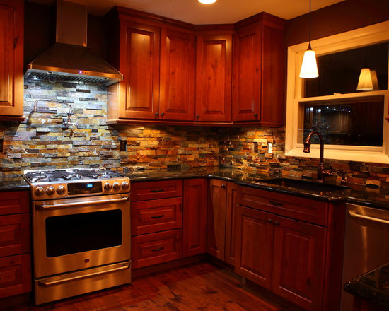 rustic kitchen design photos multi colored backsplash granite kitchen color ideas cabinetry sets designs chic kitch eat kitchen