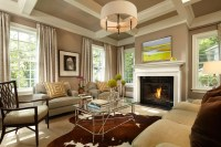 Colonial Farmhouse - Traditional - Living Room ...