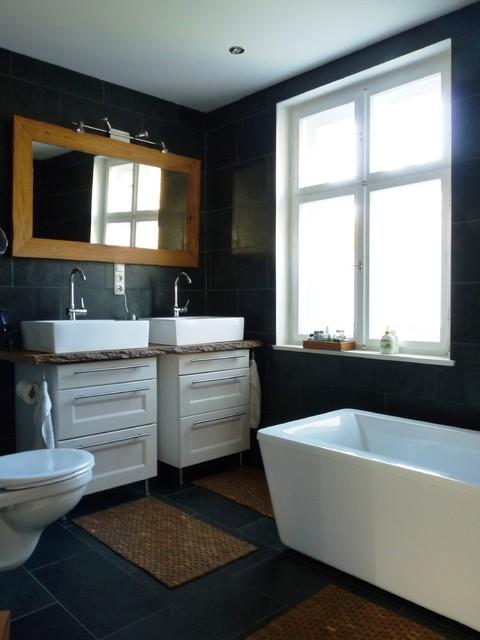 Sanierung und Einrichtung einer 30er Jahre Altbauvilla - badezimmer 30er