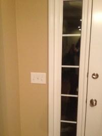 Side windows beside front door!